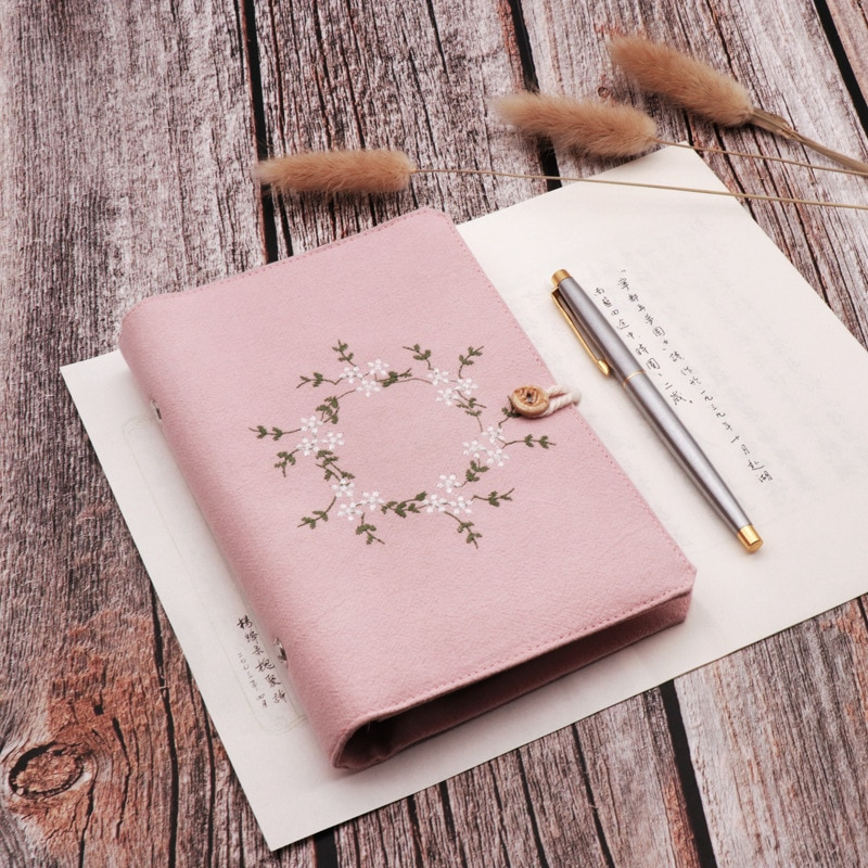 2020 A5 A6 Kawaii Cute cloth Dotted Notebook school office stationery Blank line grid dots planner 6 Holes Spiral Ring Binder cute candy a5 dotted notebook