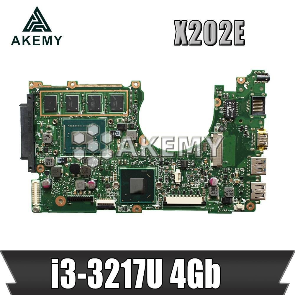 X202E Laptop motherboard for ASUS X202E X201E S200E X201EP original mainboard 4GB-RAM I3-3217U