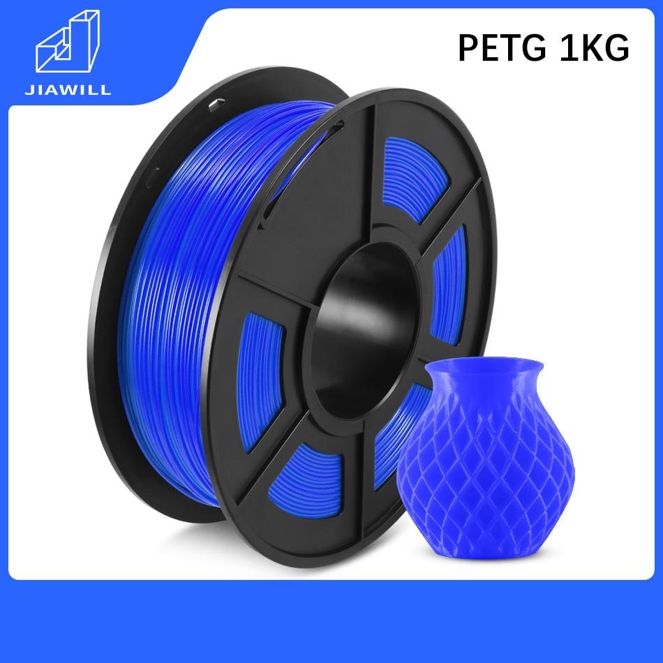 PETG Filament Plastic 1kg  1.75mm 3D Printer Filament 3D Printing Materials Good Toughness Weather Resistance Non-toxic