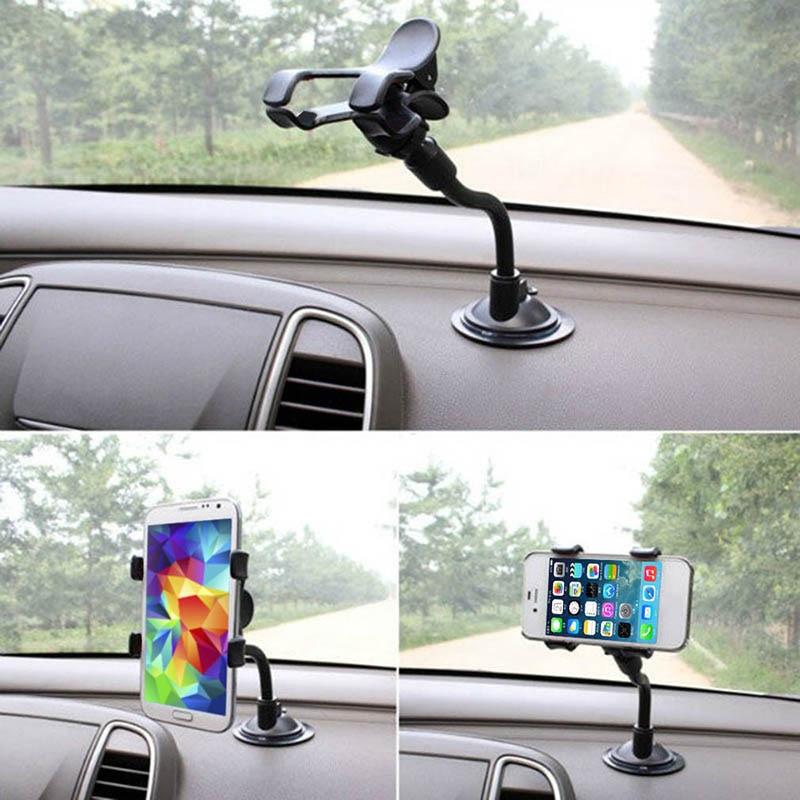 1 pieza Universal 360 ° rotación coche soporte teléfono espejo retrovisor soporte negro para celular tablero soporte Coche