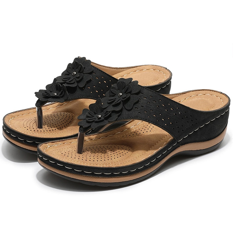 Women Slippers Summer Women Flip Flops Low Heels Sandals Shoes Female Summer Slippers Flower Women S