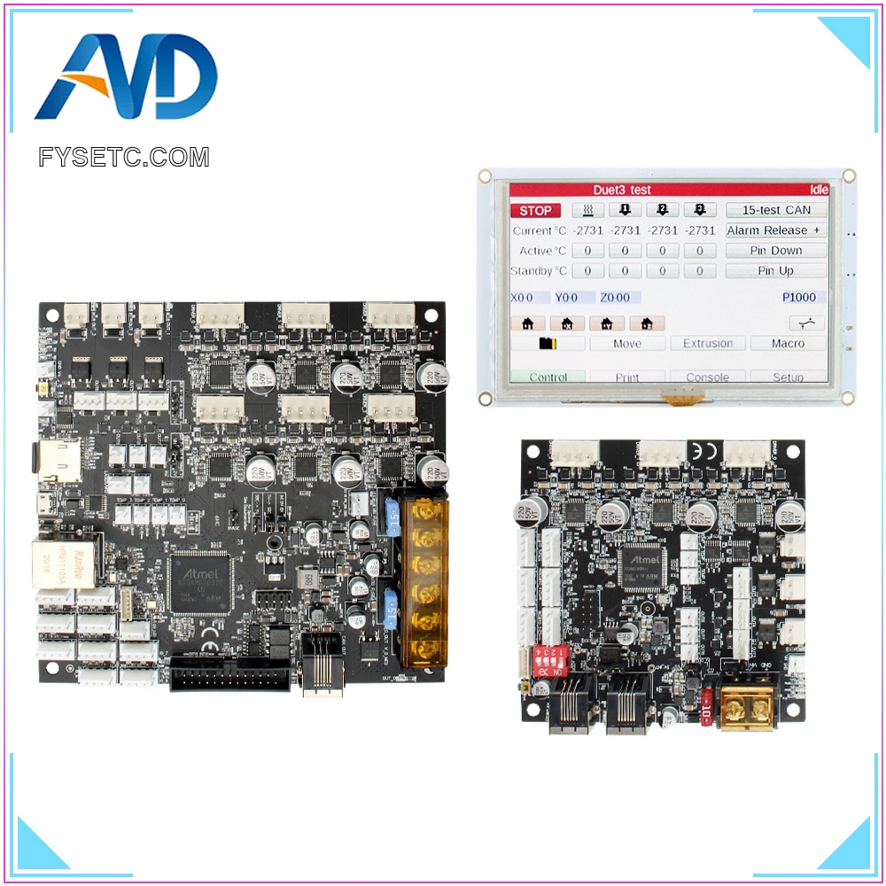 Clone Duet 3 6HC Expansion 3HC main board with 5'' 5i  7'' 7i Integrated Paneldue Touch Screen For BLV MGN Cube 3d printer parts