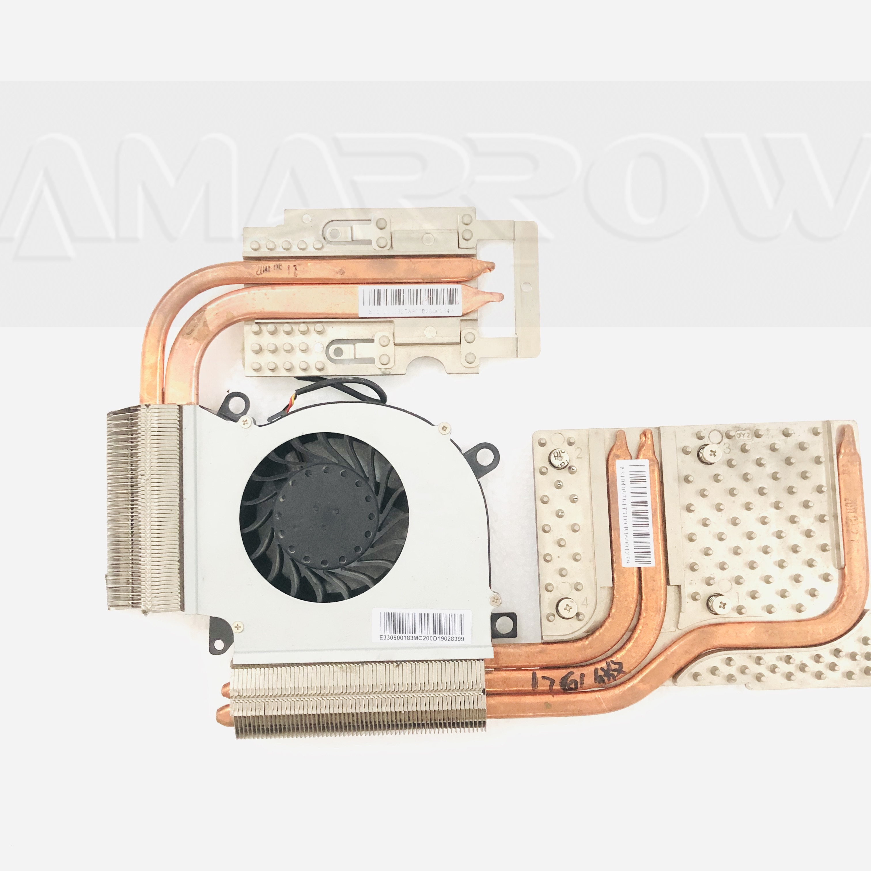 Original laptop heatsink cooling fan CPU cooler GPU cooler For MSI GT60 MS-16F3 MS-1762 GT70 GT780 1761 1762 GPU cooler heatsink