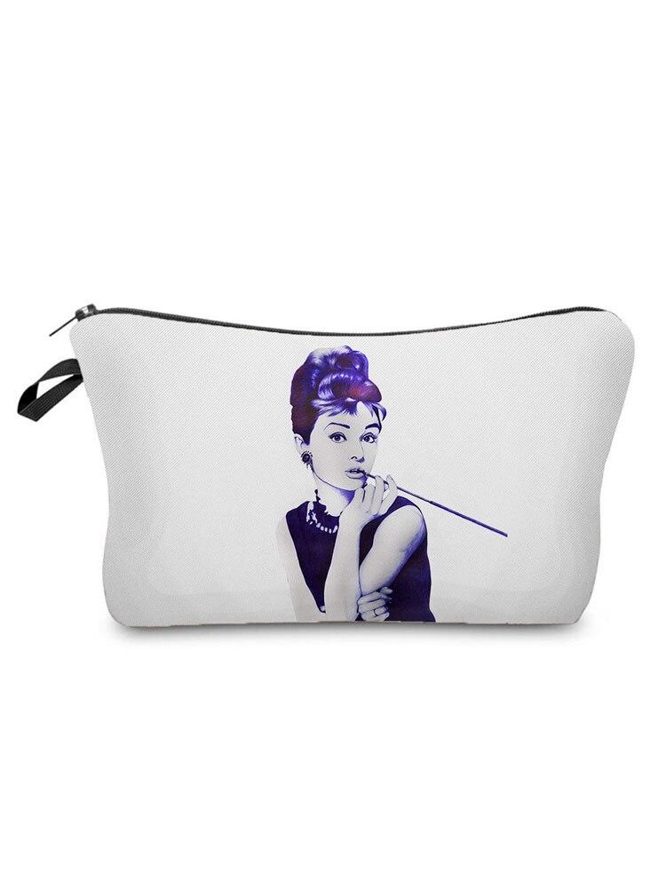 Fashion Printed Women Cosmetics Organizer Bag Personality Women's Makeup Bag Portable Storage Bags f