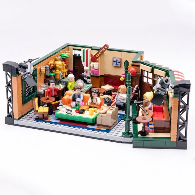 Lepinblocks Classic TV American Drama Friends Central Perk Cafe compatible Lepining Friends Building Block Bricks 21319 toys