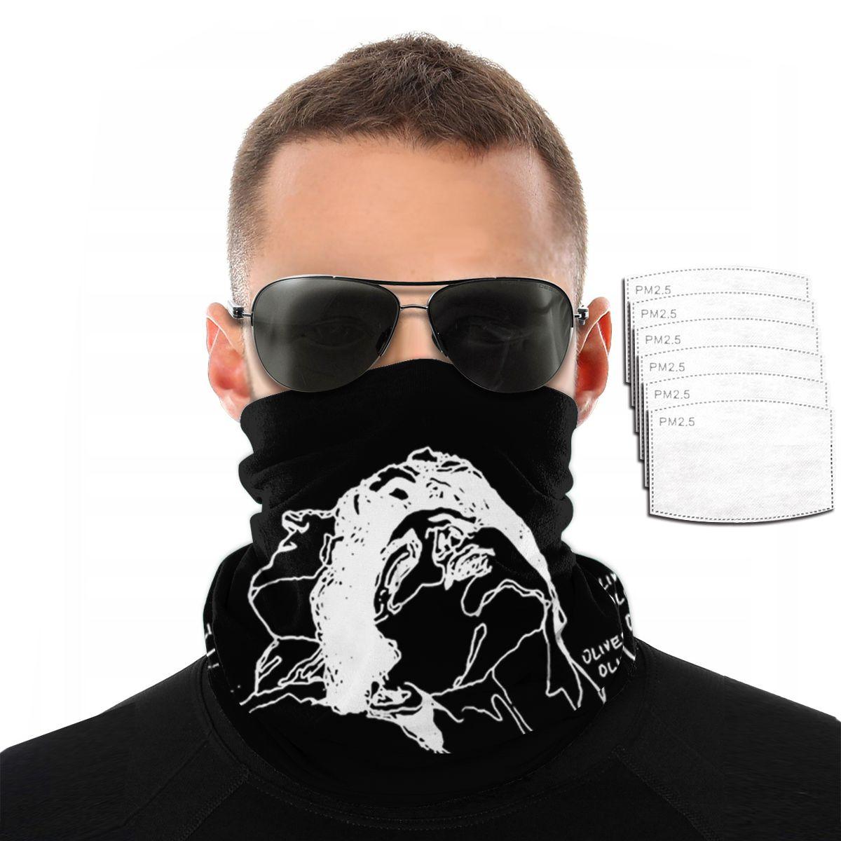 Máscara Elio y Olivern capucha Logotipo de Imagen personalizada para hombres variedad de pañuelos para el cuello toalla para la cara para mujeres máscara para la cabeza