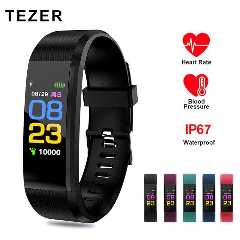 Смарт-браслет 115 Plus фитнес-трекер артериального давления Смарт-часы для мужчин монитор сердечного ритма водонепроницаемый смарт-браслет трекер