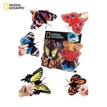 National géographique coton Kawaii peluche coloré jouet doigt papillon en peluche Animal doux pour les enfants