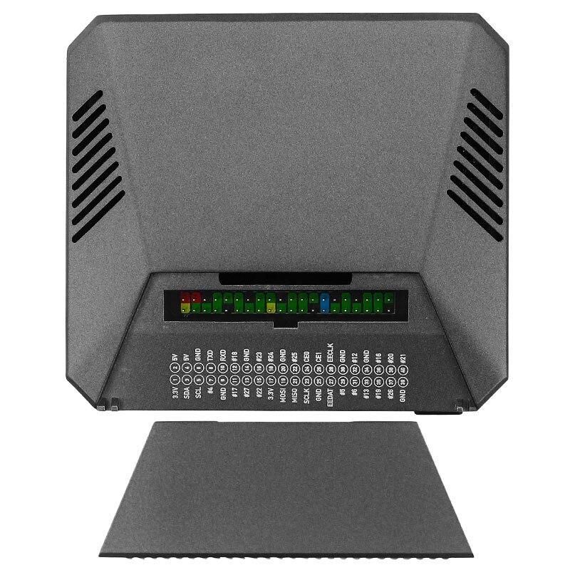 مروحة تبريد واحدة M.2 تشع لوحة المبرد مبرد معدني SSD محول لوحة تخزين مروحة مطابقة علبة معدنية لتوت العليق
