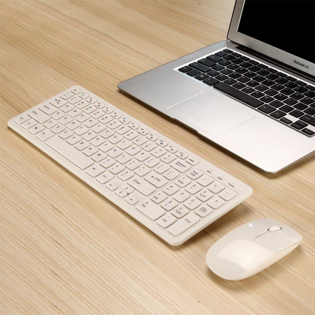 بسيطة فائقة النحافة أسود صغير لاسلكي لوحة مفاتيح وماوس كومبو عدة للكمبيوتر سطح المكتب Loptop الكلاسيكية طاقم للمكتب