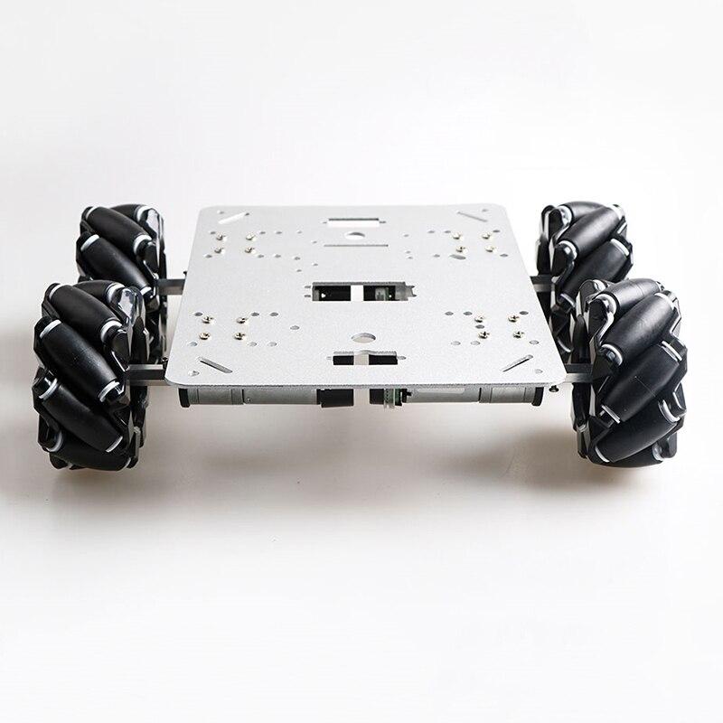80mm Mecanum Wheel 4WD Metal Car Chassis Kit 4pcs High Torque Motors DIY Smart Mobile Robot Metal Platform Car Accessories enlarge