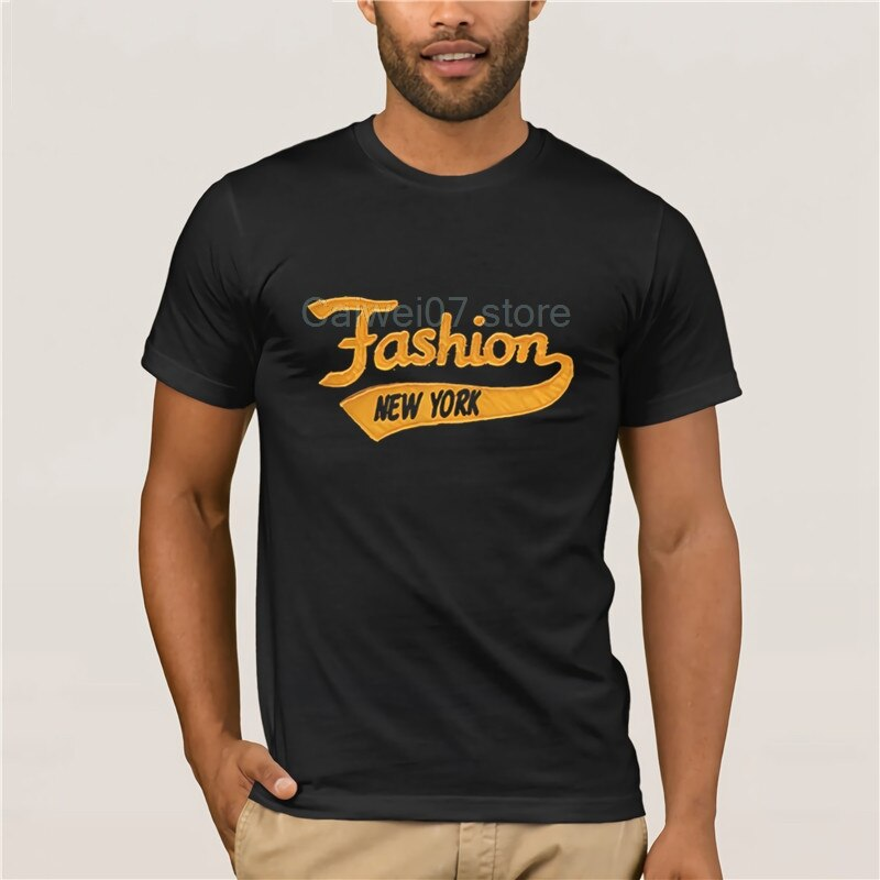 Camiseta de manga curta legal masculina yiruisen marca de moda nova iorque retalhos 100% algodão masculina estilo de moda 2019