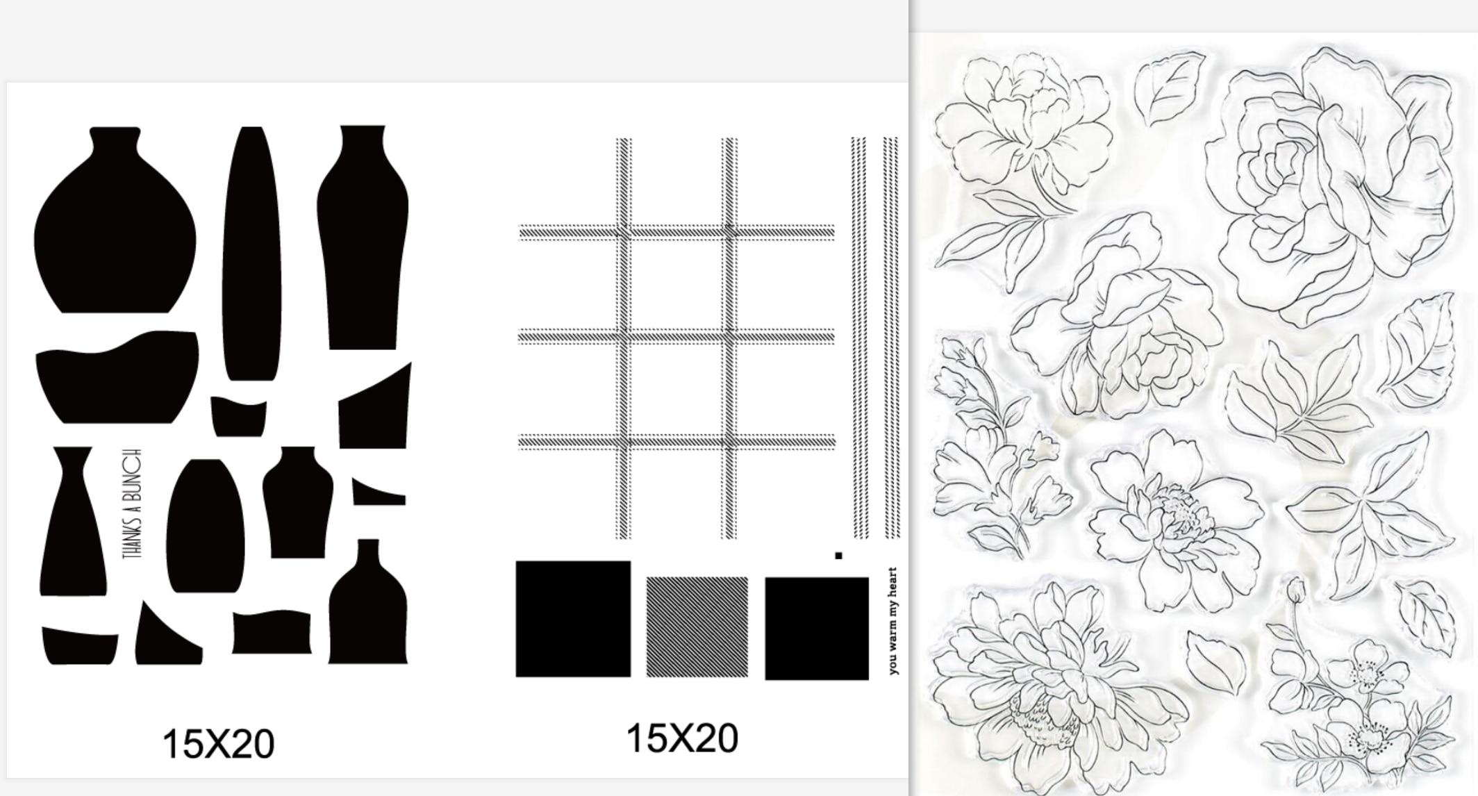 Sello de silicona Trasparente de flores Clea r para álbum de recortes DIY sello transparente decorativo A3090