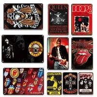 Affiche de musique Pop Vintage  assiettes en metal  decoration murale de maison douce  cadeaux souvenirs personnalises  panneaux de decoration murale de chambre a coucher