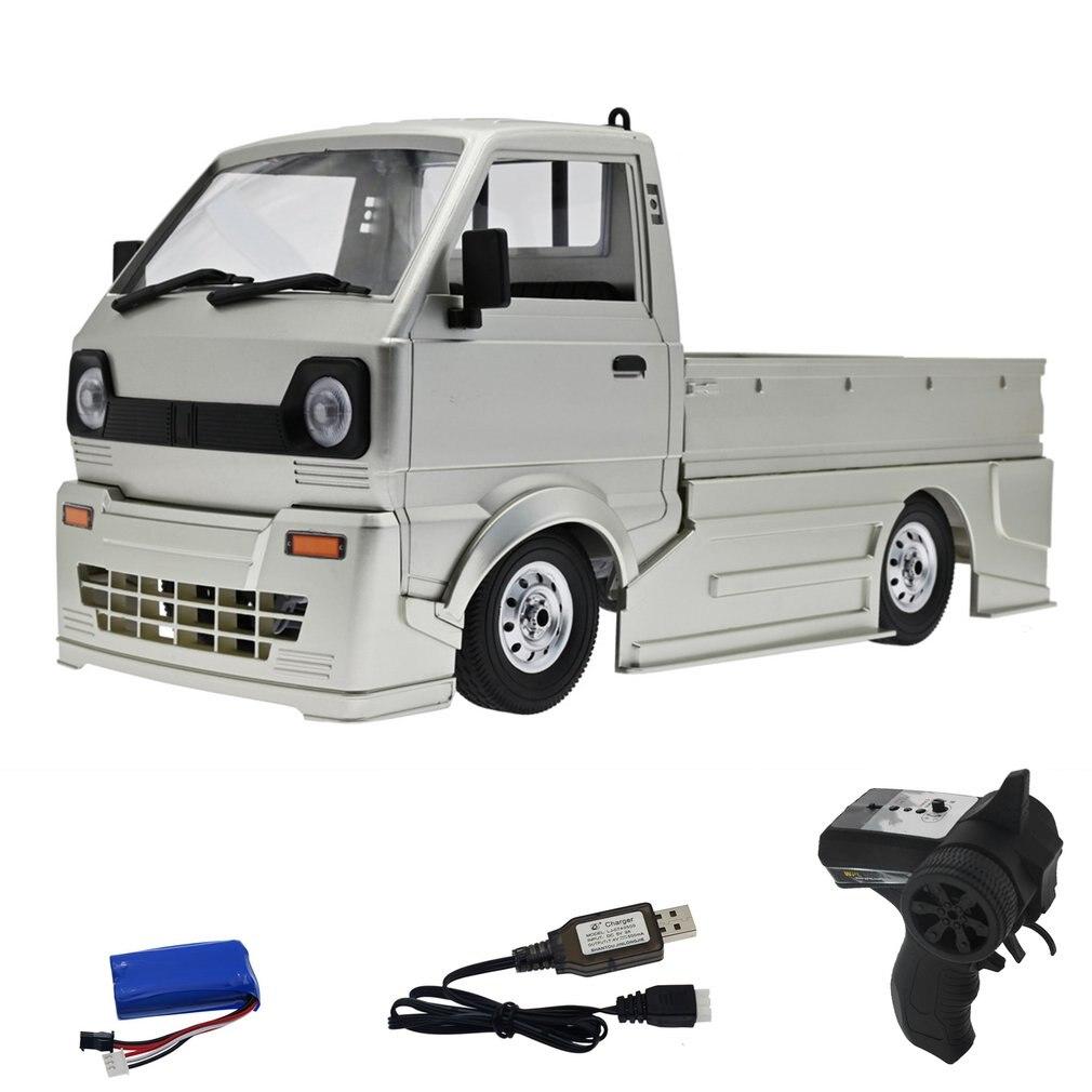 D12 1/10 2WD RC Car Simulation Drift Truck Brushed 260 motor Climbing Car LED Light On-road RC Car T