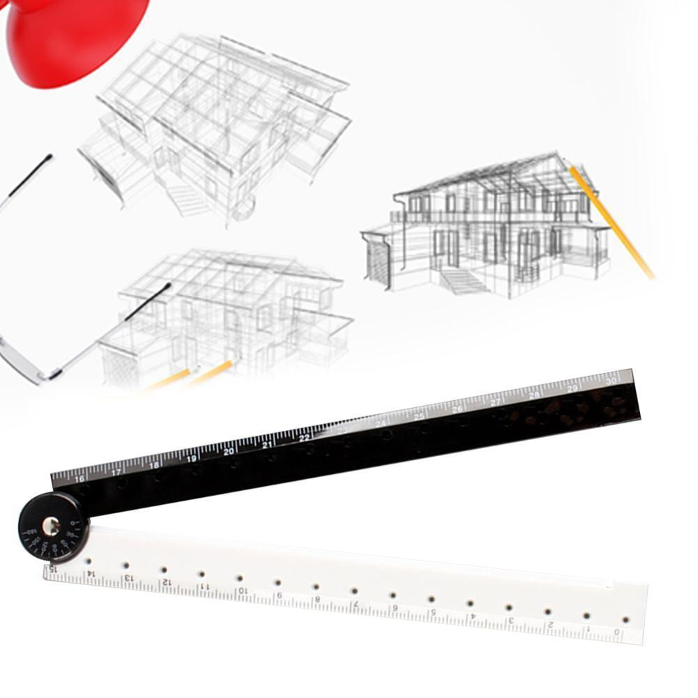 1pc Black White Plastic Folding Straight Rulers Drawing Drafting Rules Journal School Gift Student Stationery Supplies Tools