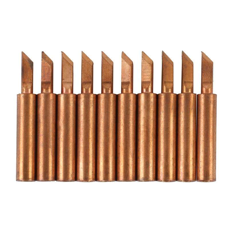 10 unids/lote de cobre puro de punta de soldadura Sting M900-T-K/SK de alta precisión boquilla de soldadura soldador eléctrico punta