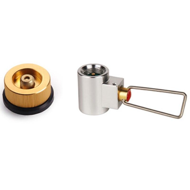 Adaptador de conversión de estufa de Gas de Camping adaptador para válvula depósito convertidor de Gas repuesto