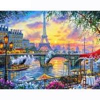 diy 5d full diamond landscape painting diamond painting sunset tower cross stitch diamond mosaic furniture decoration gift