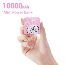 CASEIER Mini batterie dalimentation 10000mAh mignon dessin animé batterie dalimentation pour iPhone Xiaomi charge batterie externe chargeur Portable Powerbank