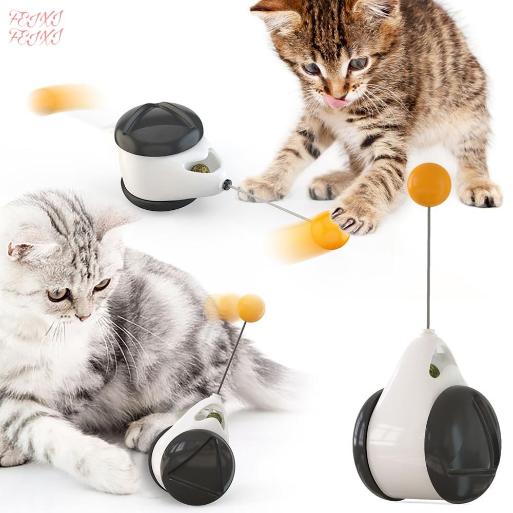 Gato-Columpio de equilibrio para auto-curación, juguetes divertidos para gatos y gatos, juguetes interactivos inteligentes para gatos