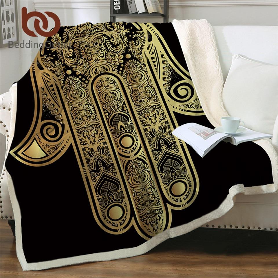 BeddingOutlet-بطانية سرير من الصوف المخملي ، عتيقة ، بوهيمية شيربا ، مفرش سرير مربعات 150 × 200 سم