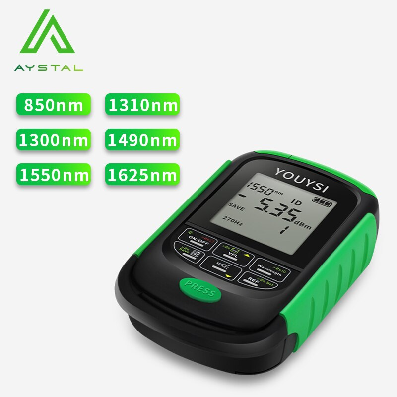 Free Shipping NEW 4in1 Li-Lion Battery Optical Power Meter Visual Fault Locator Network Cable Test Optical Fiber Tester VFL