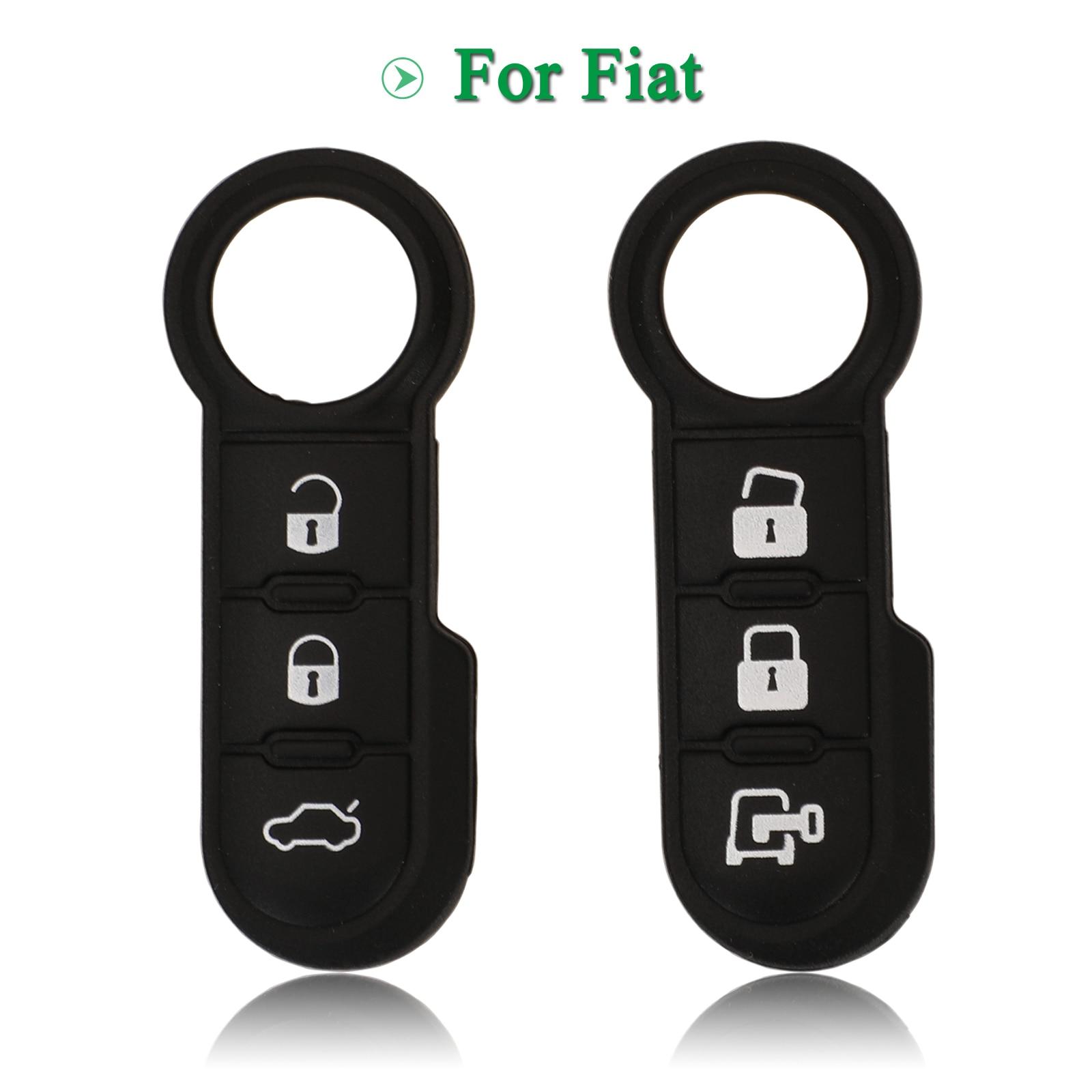 Bilchave-3 botones para Fiat 500 Panda Abarth Punto funda para mando a...