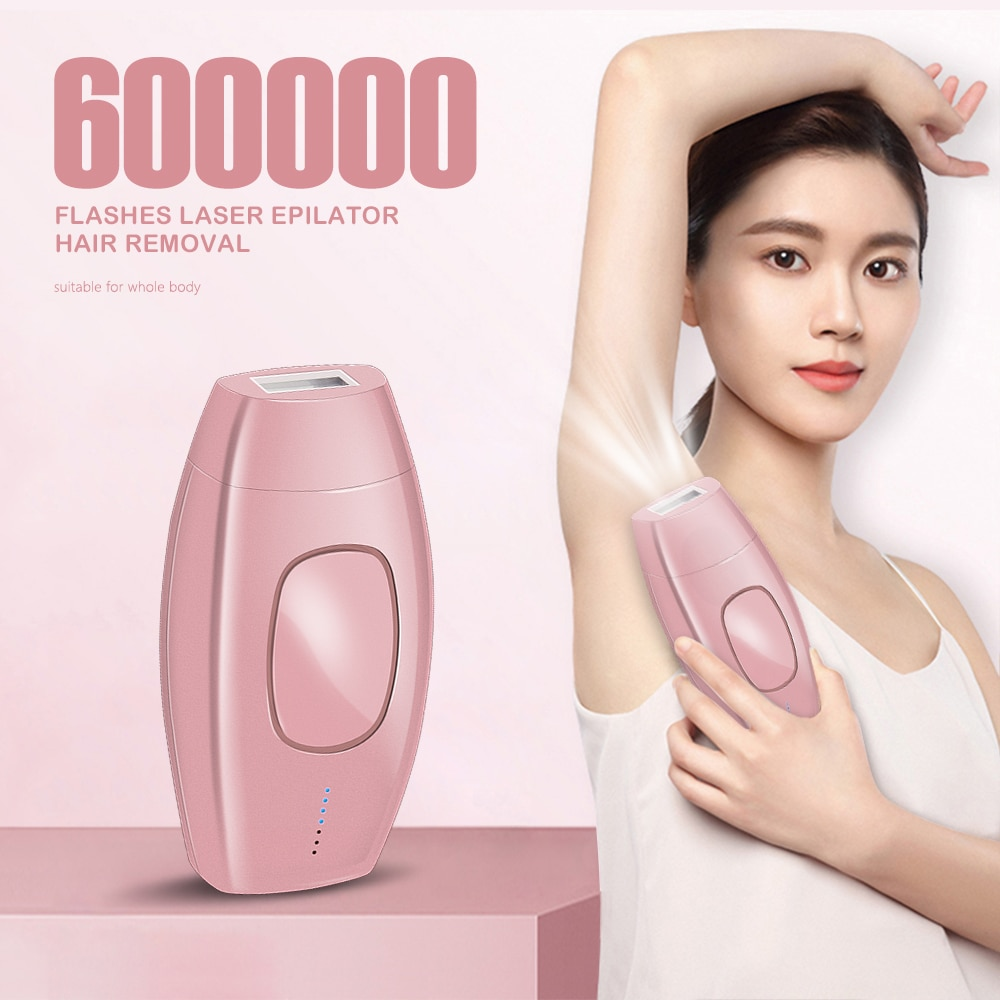 600000 Flashes Laser Epilator Permanent IPL Hair Removal Machine Electric Facial Photoepilator Devic