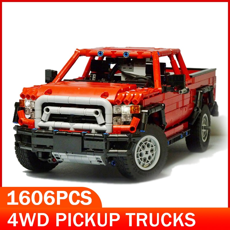 Camión de juguete para niños, modelo bloques de construcción MOC, con Radio Control, ladrillos para coche a Control remoto, montaje DIY, vehículo todoterreno para camiones de carretera, regalos