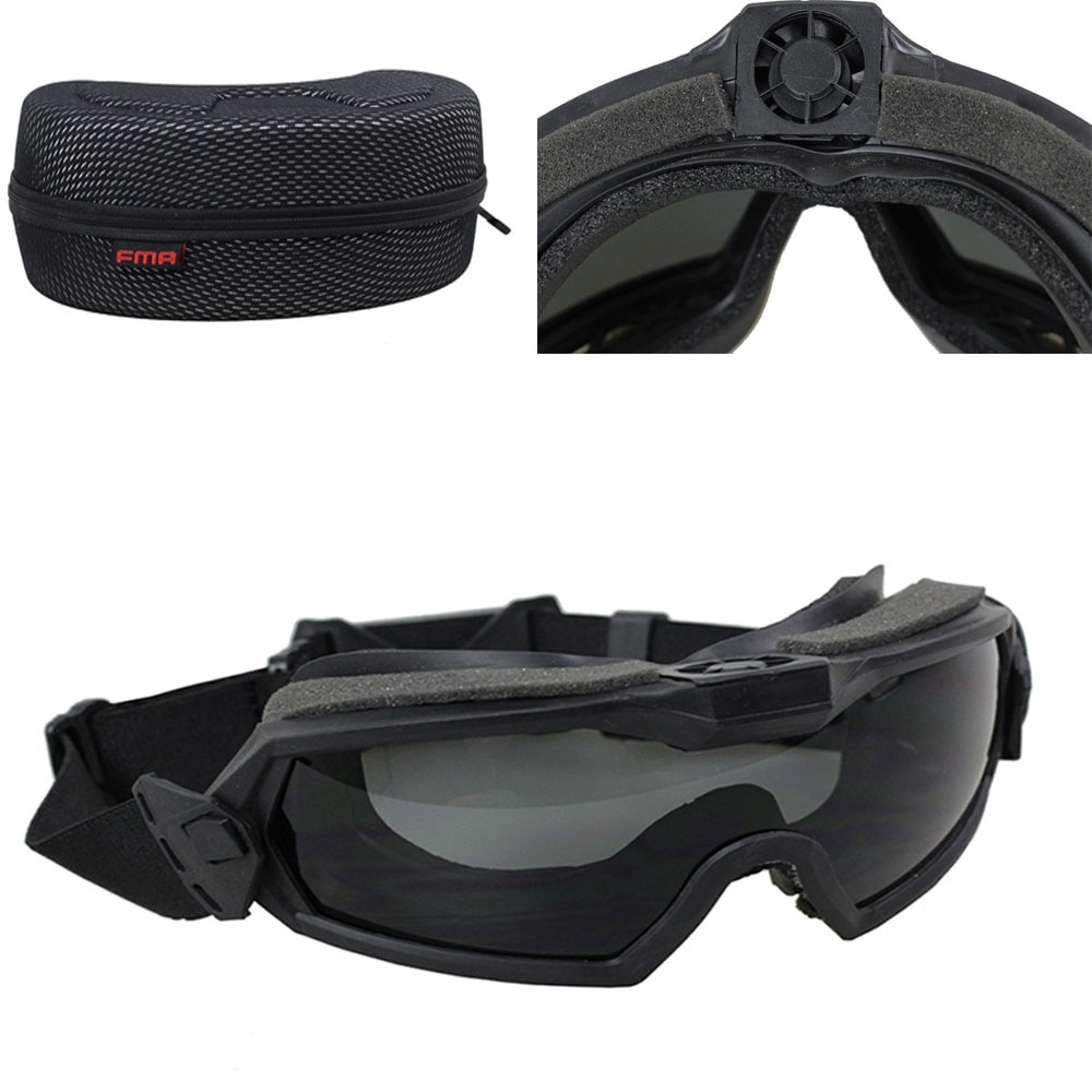 Inverno Antivento Occhiali Da Sci Occhiali Outdoor Sports CS Occhiali Da Sci Antipolvere Moto Ciclismo Anti-fog FMA Goggle con il Ventilatore