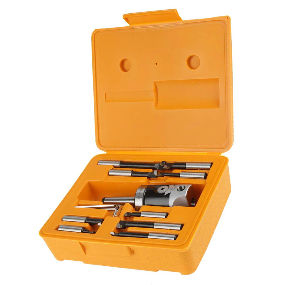 Boring Head Bar Set MT2-M10High Hardness Milling Machine Accessories With Indexable Bar Boring Head Set For Milling Machine Tool