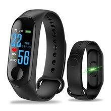 Смарт-часы M3 с шагомером, спортивный фитнес-трекер IP67, водонепроницаемое кровяное давление, пульсометр, фитнес-браслет