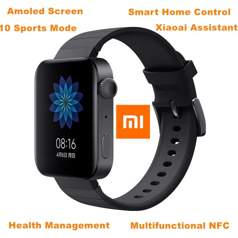 شياومي-ساعة آندرويد ذكية للمحادثات التليفونية GPS NFC WIFI ESIM, ساعة يد رياضية سوار بها بلوتوث للياقة البدنية وقياس معدل ضربات القلب