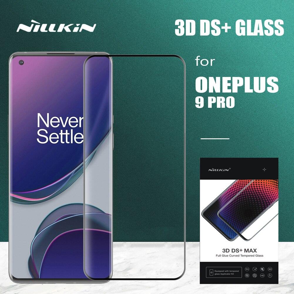 Nillkin ل Oneplus 9 برو الزجاج ثلاثية الأبعاد DS + غطاء كامل الزجاج المقسى السلامة واقي للشاشة ل One Plus 9 برو زجاج عليه طبقة غشاء رقيقة