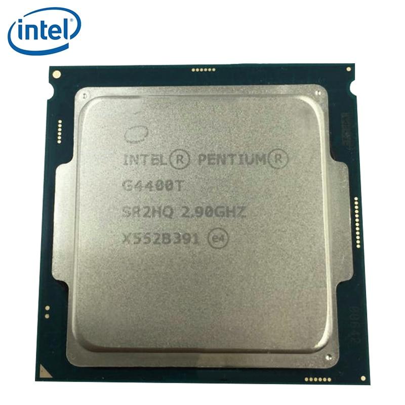 Intel processador pentium, processador de cpu intel pentium g4400t sr2hq dual-core 2.9ghz 35w lga 1151 testado 100% trabalhando