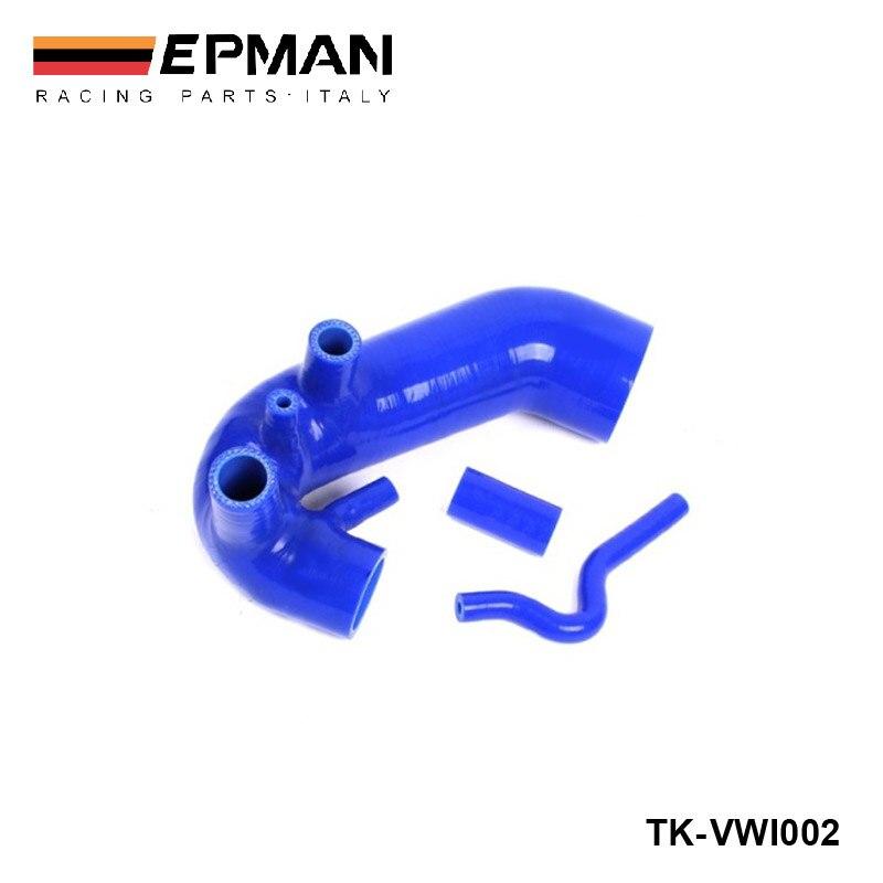 Силиконовый интеркулер Turbo Boost индукционный впускной шланг комплект для VW Passat 1,8 T B5 96-01 (3 шт) EP-VWI002