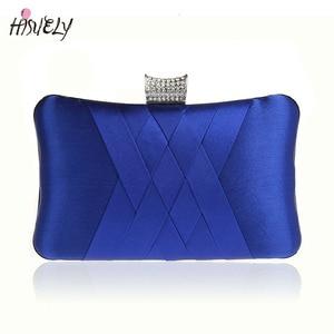 9 Color Silk Bride Wedding Bags Diamond Evening Bag fashion Handbag Women's Party Dinner bags Satin Shoulder Bag bolsa WY34