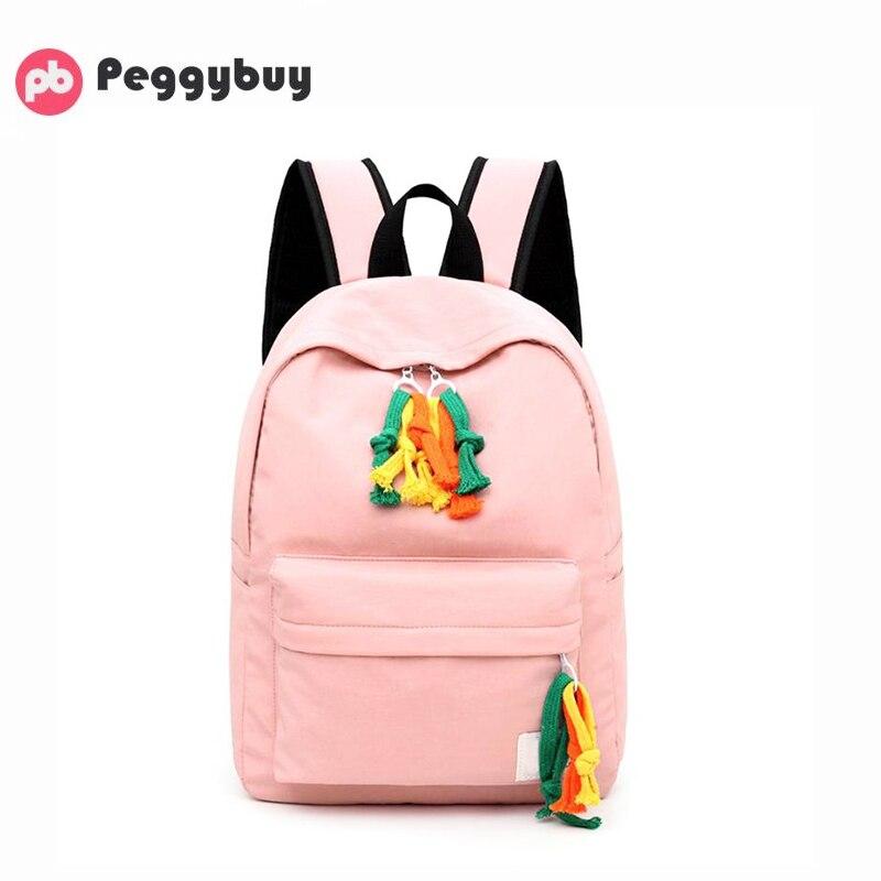 Oxford mochilas para mujeres hombro bolsa de la Escuela de gran capacidad de viaje mochila Color sólido de la escuela bolsa de gran capacidad de viaje mochila