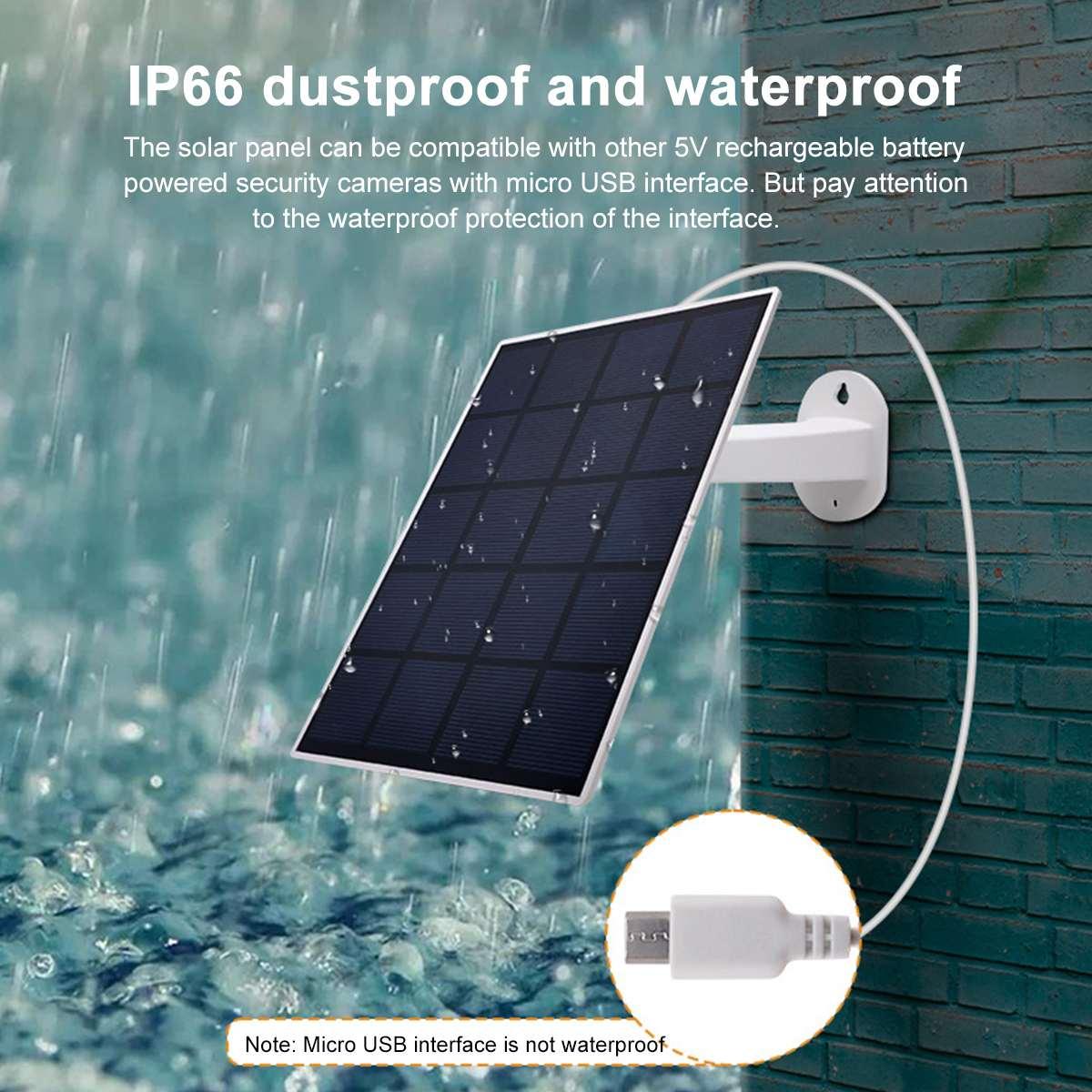360°Adjustable Bracket USB Solar Panel Outdoor 5W 5V Solar Charger Pane Hyper-Efficient Monocrystalline For Outdoor