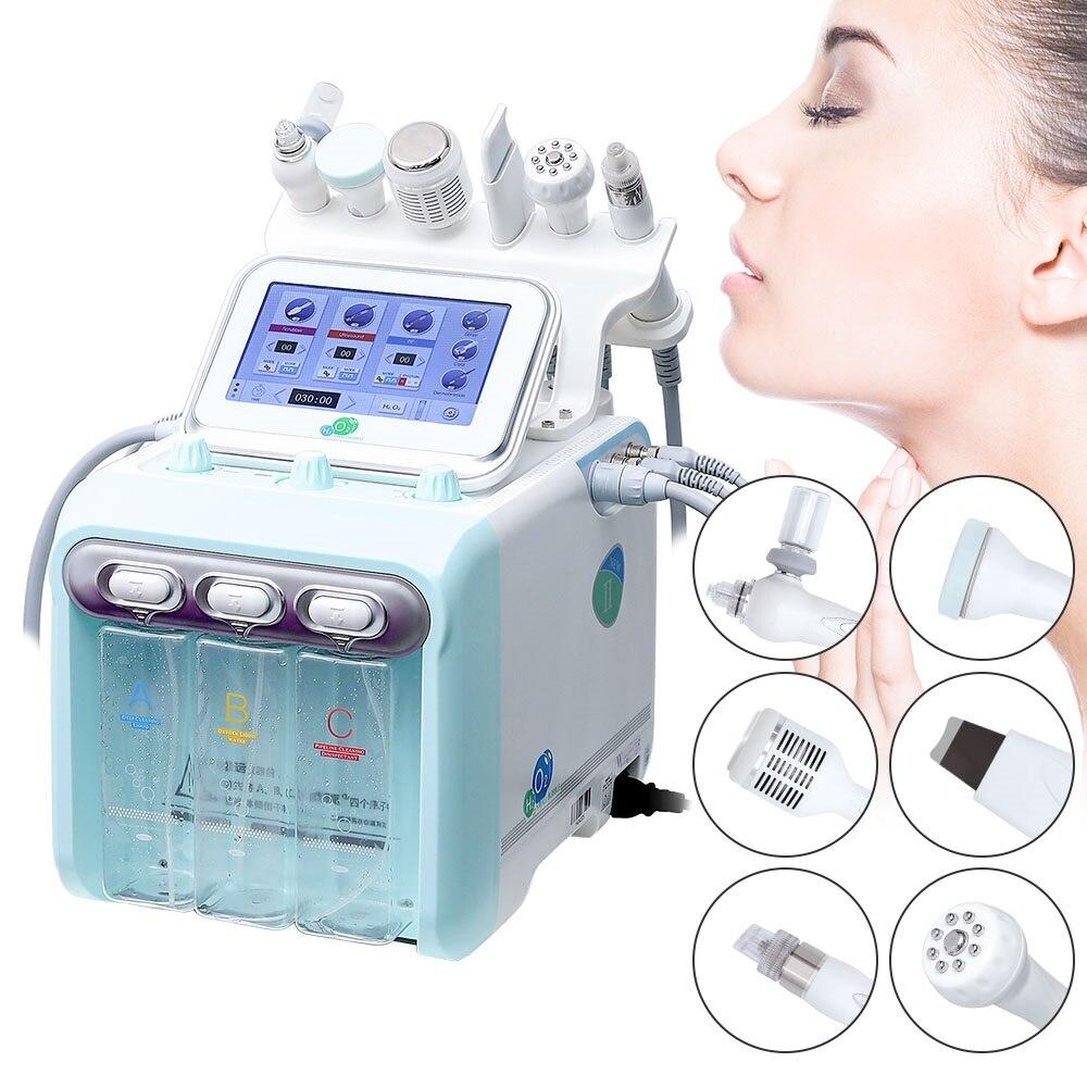 جهاز جلدي بالماء النفاث ، جهاز جلدي ، أكسجين ، تنظيف ، جهاز هيدرا جلدي ، 6 في 1