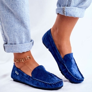 Women Slip on Loafers Soft Flock Moccasins Handmade Sewing Suede Flats Non Slip Rubber Sole Comfort Lazy Shoes Ladies Whosale