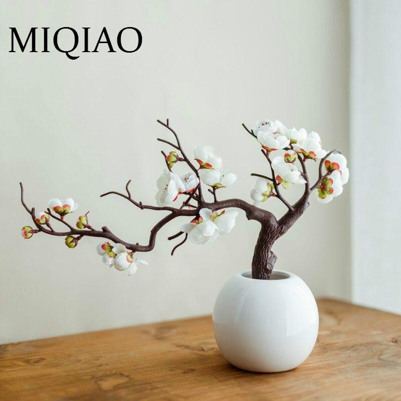 Miqiao elegância clássica de alta qualidade flor ameixa decoração do vintage escritório festa hotel restaurante pátio 1 peças 1 garrafa