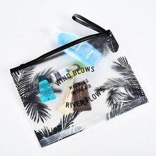 Moda kadınlar temizle kozmetik çantaları PVC makyaj çantaları seyahat organizatör gerekli güzellik durumda makyaj çantası için Ideal hediye seyahat