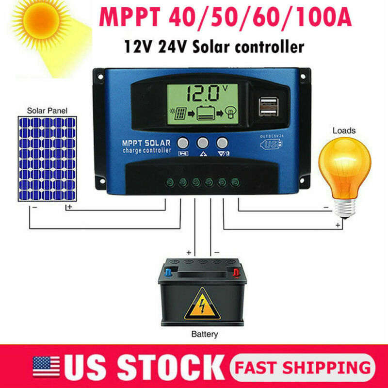 dupla usb novo controlador solar 10a 20a 30a 12 v 24 v lcd painel solar carregador