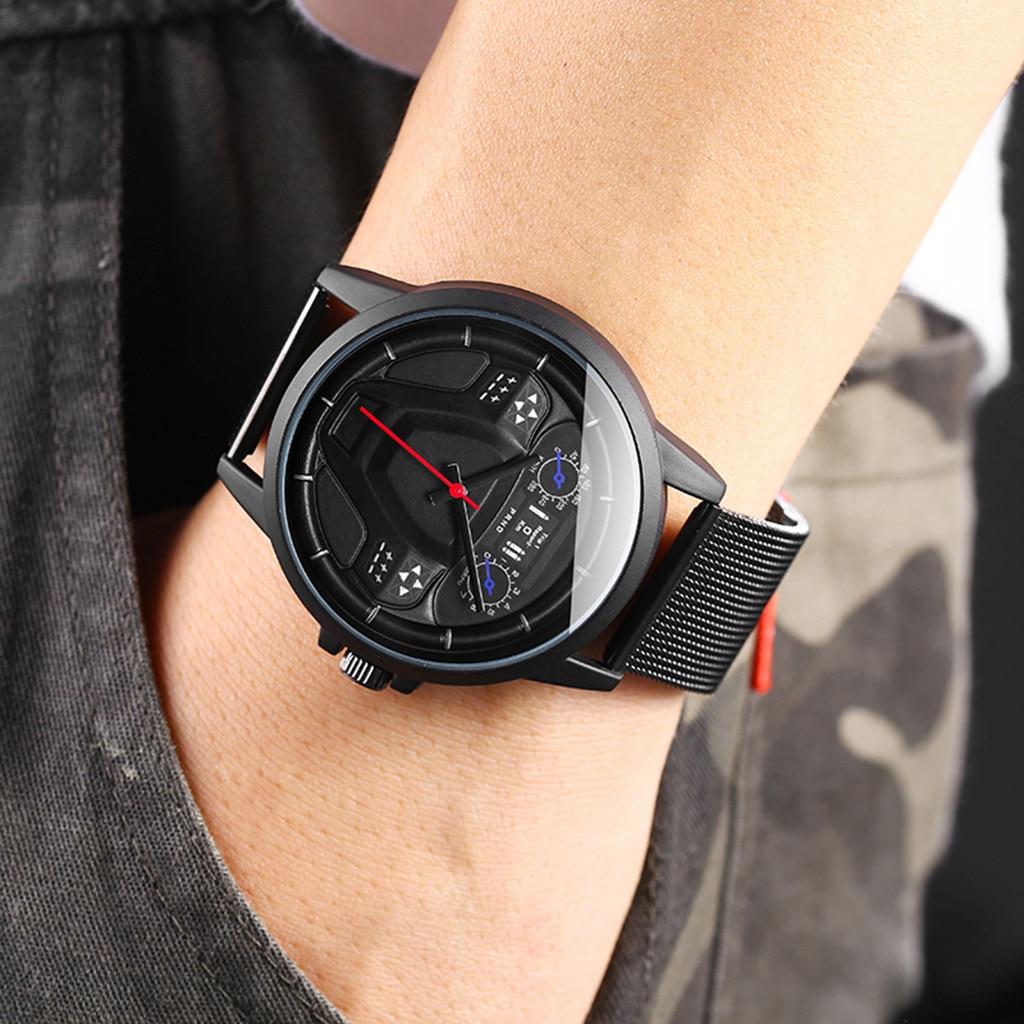 Watch Men Sport Military Stainless Steel Quartz watch Wristwatch Direction Disc Cab Fashion Watches orologio uomo zegarek damski