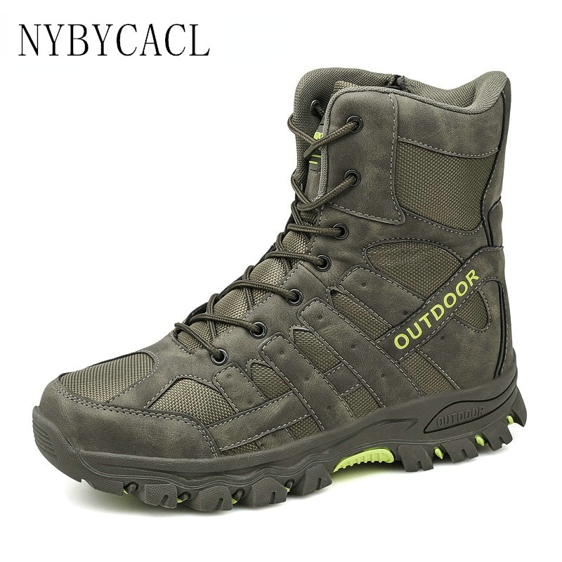 New Autumn Winter Military Boots Outdoor Male Hiking Boots Mens Special Force Desert Tactical Combat Ankle Boots Men Work Boots men desert tactical military boots mens work safty shoes special force waterproof army boot lace up combat ankle boots