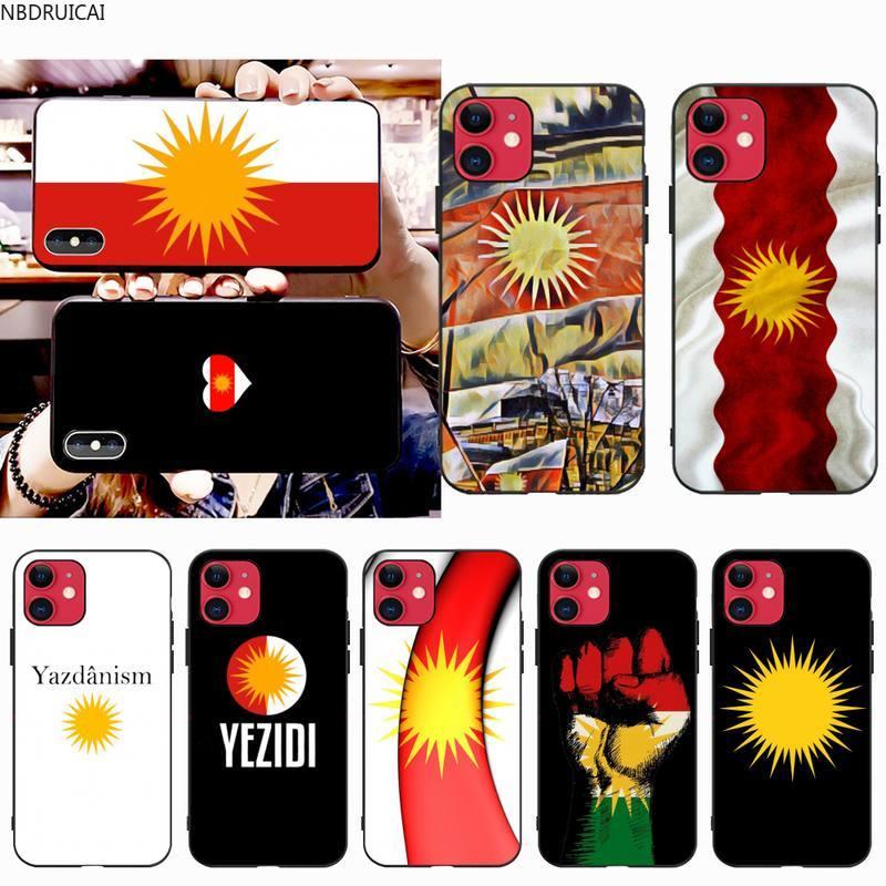 NBDRUICAI Yazidis Flag Phone Case for iphone 12 pro max 11 pro XS MAX 8 7 6 6S Plus X 5S SE 2020 XR