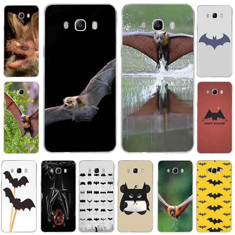 Fundas blandas de silicona TPU para teléfono Samsung Galaxy J5 J7 J3 J2 J1 2016 A7 A5 A3 2017, fundas, fundas, vampiro, murciélagos, luna llena, Halloween