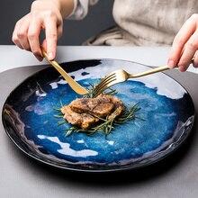 Vaisselle en céramique exquis vintage assiettes en céramique créatif plat occidental plats irréguliers personnalité assiettes à dîner